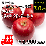 【送料込み】【産地直送!】【W】 長野県産 ナカムラフルーツ農園 りんご (品種:シナノスイート) 約3.0kg (8~10玉入り) | 着日指定不可 / 沖縄・離島配送不可 / 今月のおすすめ