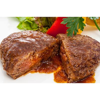 【お取り寄せ】 米沢牛黄木 米沢牛入り焼ハンバーグセット 8個