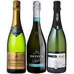 【送料込み】 お買い得!人気スパークリングワイン 3本セット 2250ml