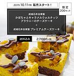 【送料込み】成城石井自家製 かぼちゃとキャラメルウォルナッツブラウニーのチーズケーキとプレミアムチーズケーキの2本セット(冷蔵発送)