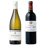 【お歳暮】 ボルドー&ブルゴーニュ 銘醸ワイン紅白セット 750ml×2本 【G】