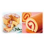 【お歳暮】 もりもと 半熟シフォンと北海道産苺のジャムロール 【W】   沖縄離島不可