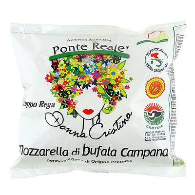 イタリア ドンナ クリスティーナ モッツァレラ ディ ブフォラDOP 125g   水・日出荷不可