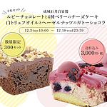 【送料込み】成城石井自家製 ルビーチョコレートと4種ベリーのチーズケーキと白トリュフオイルとヘーゼルナッツのガトーショコラの2本セット(冷蔵発送)