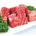 【お取り寄せ】 国産黒毛和牛ももサイコロステーキ 200g×2 【G】 | 着日指定必須