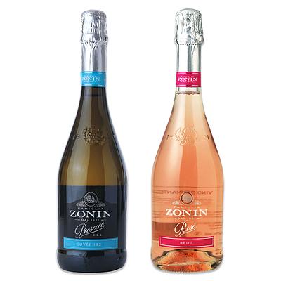 【お取り寄せ】 イタリア産スパークリングワイン ゾーニン白ロゼセット 750ml×2本 【G】