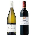 【お中元】 ボルドー&ブルゴーニュ 銘醸ワイン紅白セット 750ml×2本 WS-06 【E・G】