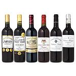 【お中元】 ヴィンテージ2000年を含むボルドー当たり年赤ワイン 6本セット 750ml×6本 WS-10 【E・G】