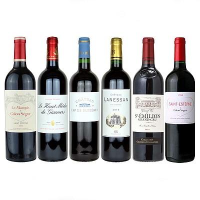 【送料込み!】【お取り寄せ】 グレートヴィンテージボルドーワイン 6本セット 【E】