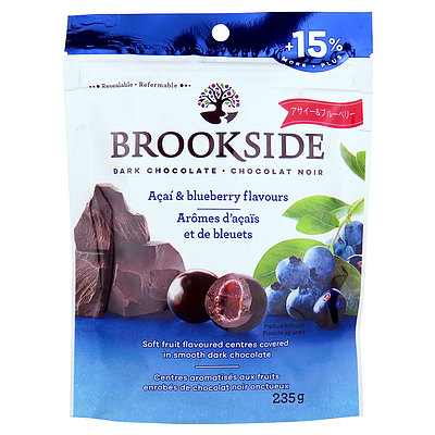 ブルックサイド ダークチョコレート アサイブルーベリー 235g