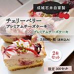 【送料込み】 成城石井自家製 チェリーベリープレミアムチーズケーキとプレミアムチーズケーキの2本セット | 石井の日