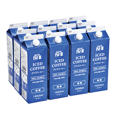 【お取り寄せ】 成城石井アイスコーヒー微糖 1000ml×12本 【E】