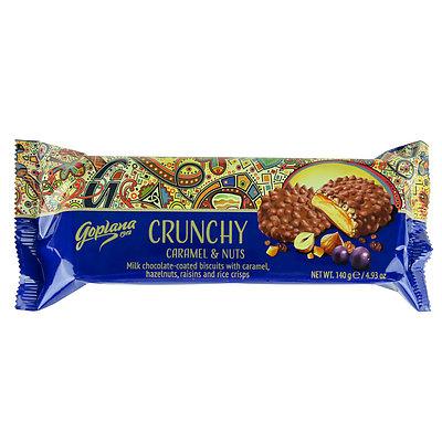 ゴプラーナ ミルクチョコレートクランチー キャラメル&ナッツ 140g