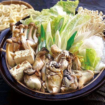 【送料込み!】【お取り寄せ】 牡蠣土手鍋セット 3~4人前 【G】 | 消費期限:出荷日含む5日 / 着日指定必須