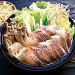 【送料込み!】【お取り寄せ】 九州産真鯛と2種きのこのあごだし鍋セット(うどん入り) 3~4人前 【G】 | 消費期限:出荷日含む5日 / 着日指定必須