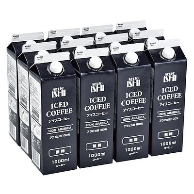 【お中元】【EK】 成城石井 アイスコーヒー無糖12本セット 1000ml×12本