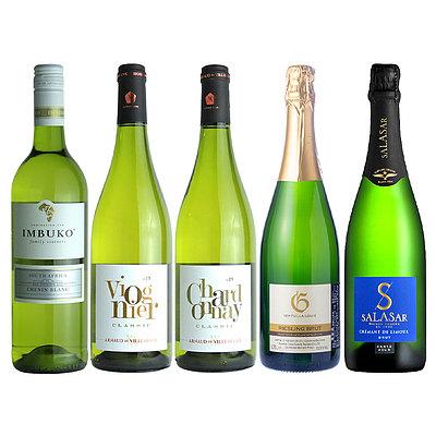 【送料込み】 成城石井おすすめ!白・スパークリングワイン 5本セット