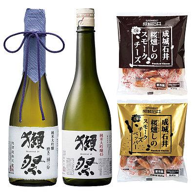 D+4【送料込み】 獺祭 純米大吟醸 45&磨き二割三分 おつまみセット