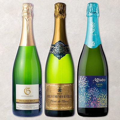 【送料込み】 おうちで楽しむ!瓶内二次発酵スパークリングワイン 3本セット