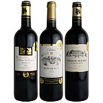 【送料込み】 フランス ボルドー金賞赤ワイン 3本セット 2250ml