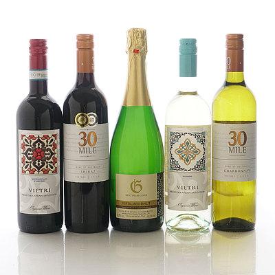 【送料込み】 決算還元!人気ワイン5本セット