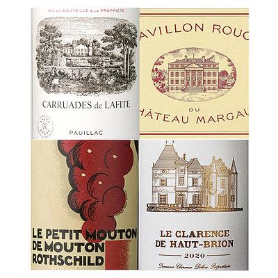 フランス ボルドー 2020 1級シャトーセカンドワインセット 750ml×4本   2020年プリムールワイン